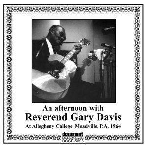 DOCD-5693 An Afternoon With Reverend Gary Davis At Allegheny College, Meadville, P.A. 1964